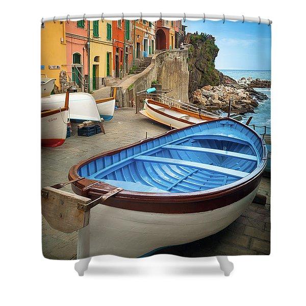 Rio Maggiore Boat Shower Curtain