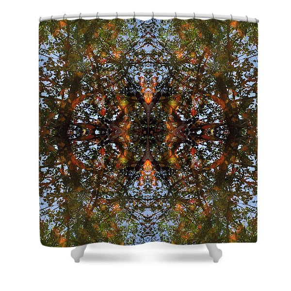 Ripple And Leaf II Shower Curtain