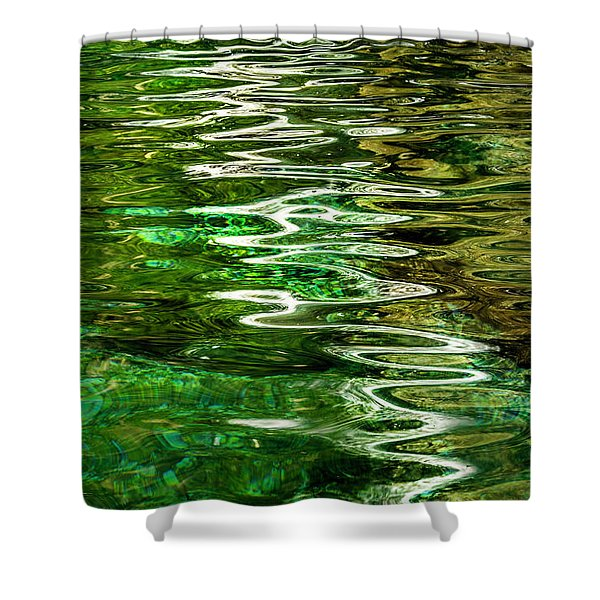 Ripple Paintings Shower Curtain