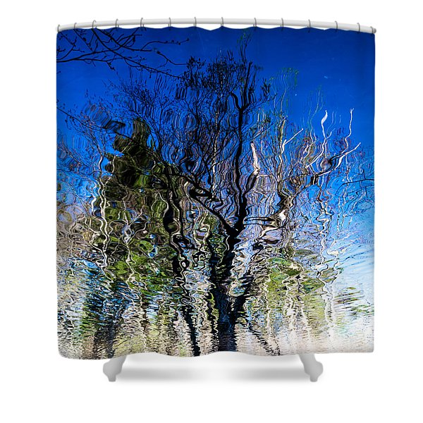 Rippled Reflection Shower Curtain