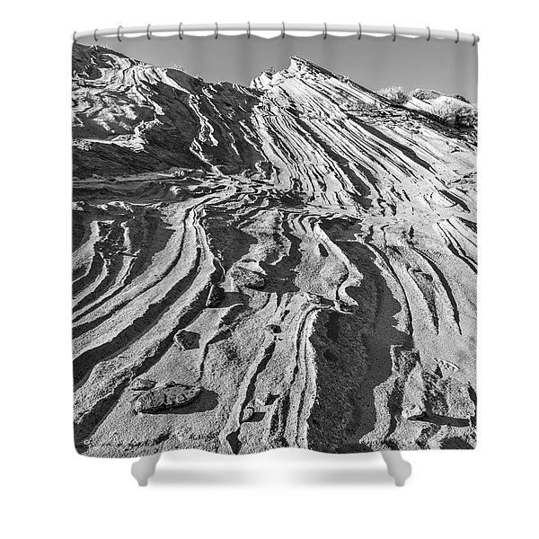 Rippled Sandstone At Waterhole Canyon Shower Curtain