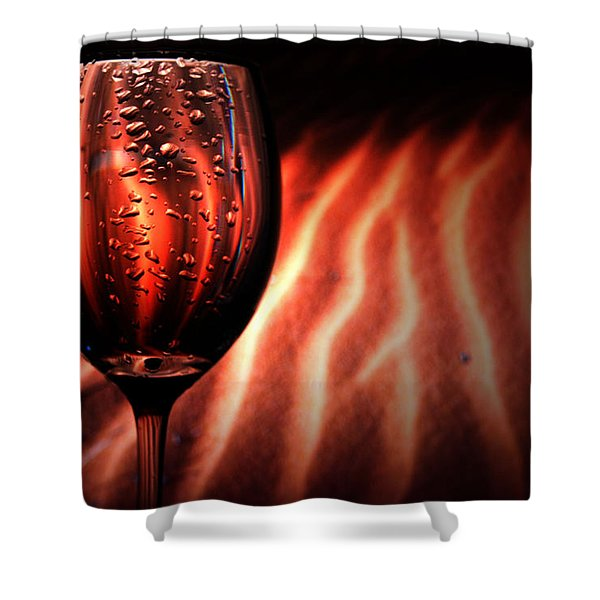 Ripples And Droplets Shower Curtain