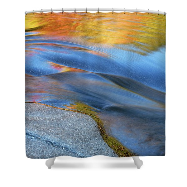 Ripples Flow Swift River Nh Shower Curtain