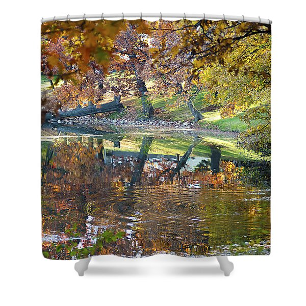 Ripples In An Autumn Lake Shower Curtain
