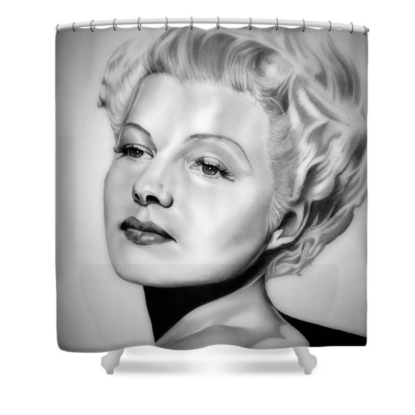 Rita Hayworth Shower Curtain