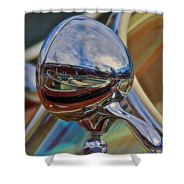 Riva Chrome Shower Curtain