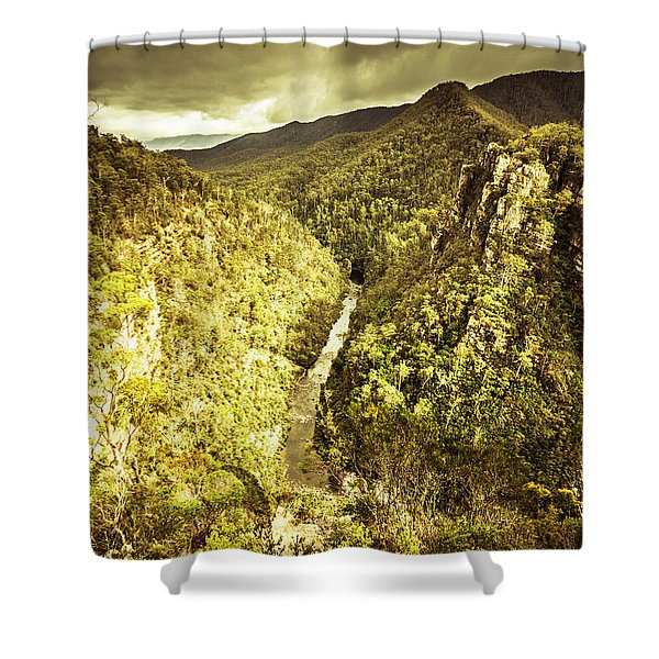 River Below Shower Curtain