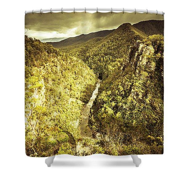 River Below Shower Curtain