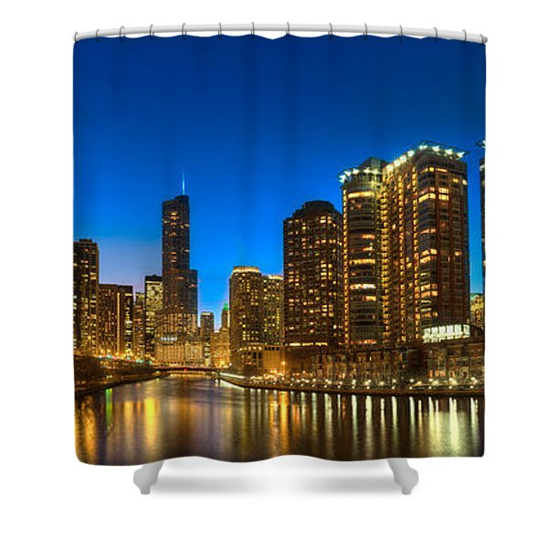 River East Chicago Shower Curtain