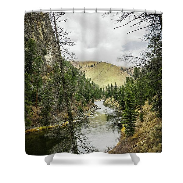 River In The Canyon Shower Curtain