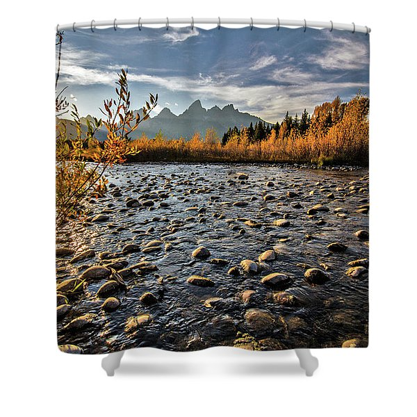 River In The Tetons Shower Curtain
