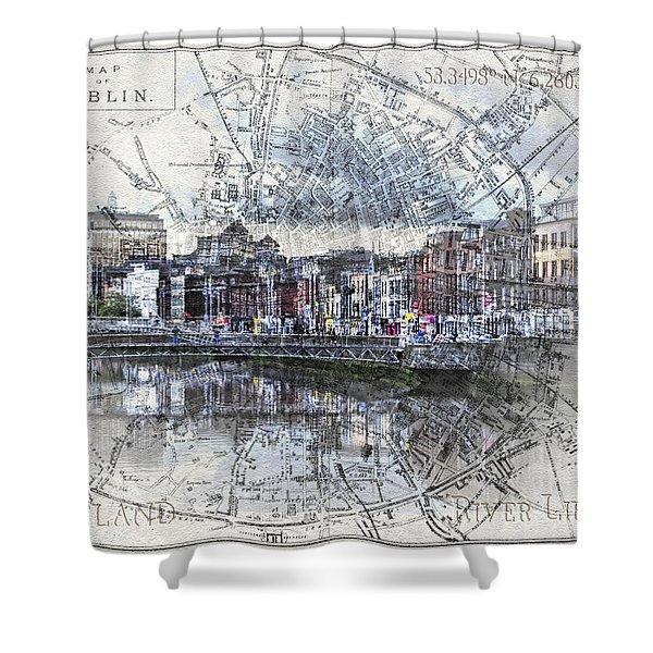River Liffey Dublin Shower Curtain