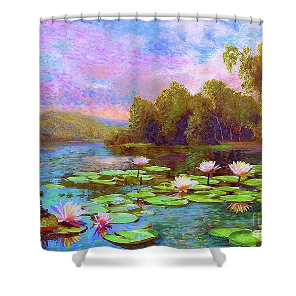 The Wonder Of Water Lilies Shower Curtain