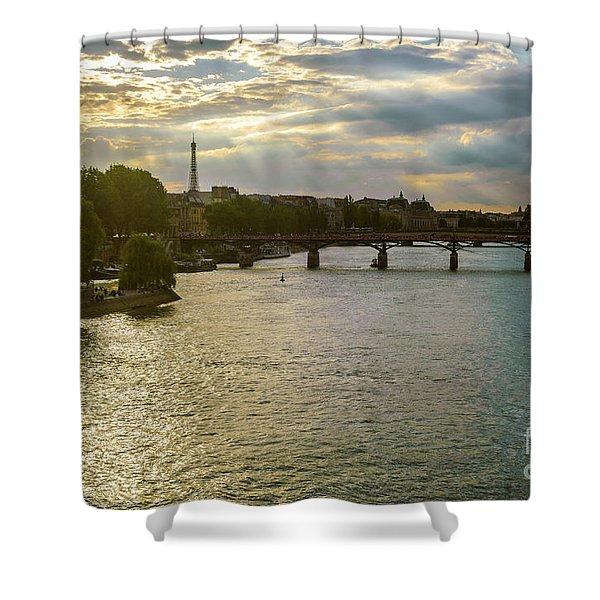 River Seine At Dusk Shower Curtain