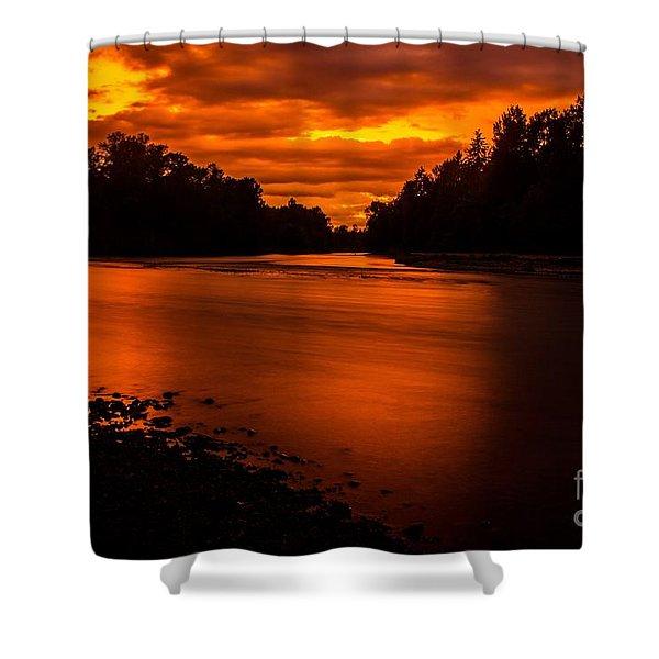 River Sunset 2 Shower Curtain
