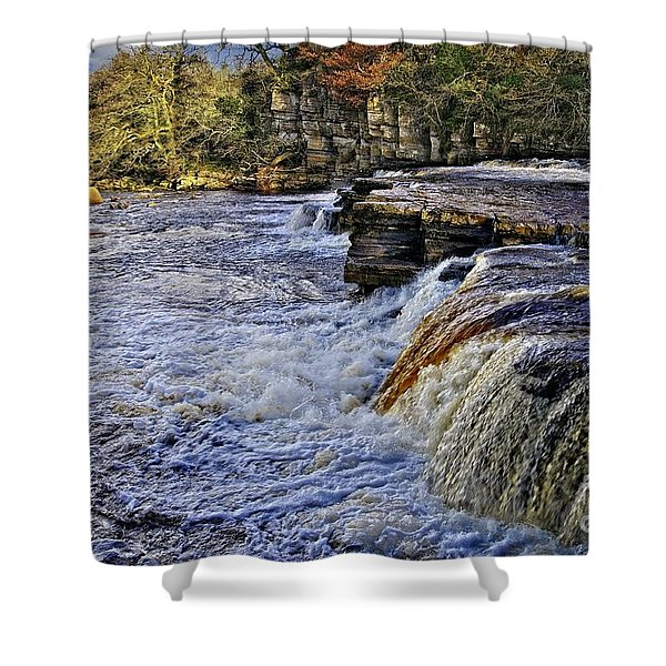 River Swale At Richmond Yorkshire Shower Curtain