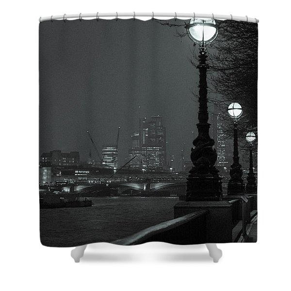 River Thames Embankment, London 2 Shower Curtain
