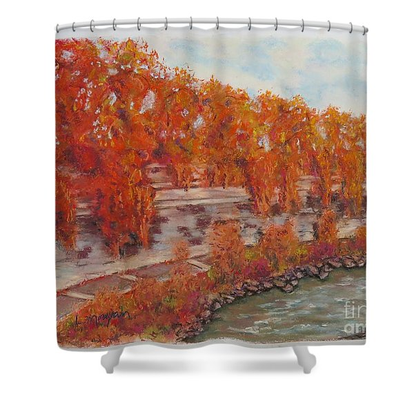 River Tiber In Fall Shower Curtain