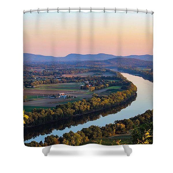 Shower Curtain featuring the photograph Connecticut River View  by Sven Kielhorn