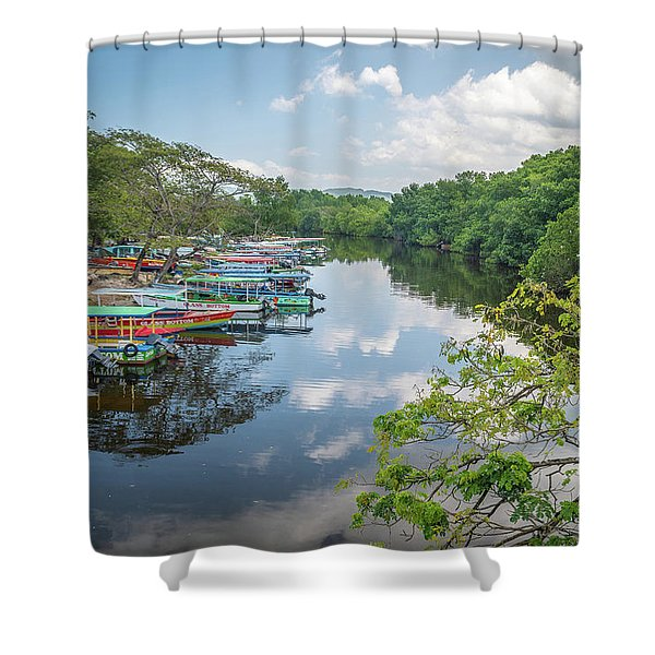 River Views In Negril, Jamaica Shower Curtain