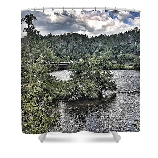 River Wonders Shower Curtain