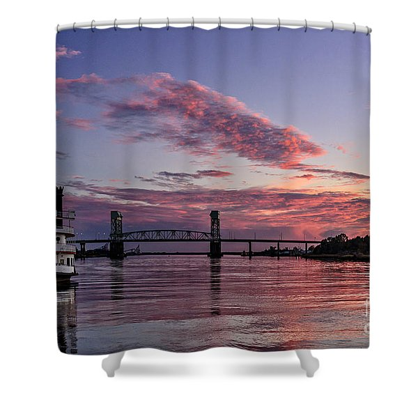 Cape Fear Riverboat Shower Curtain