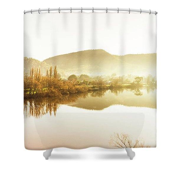 Rivers And Mist Shower Curtain