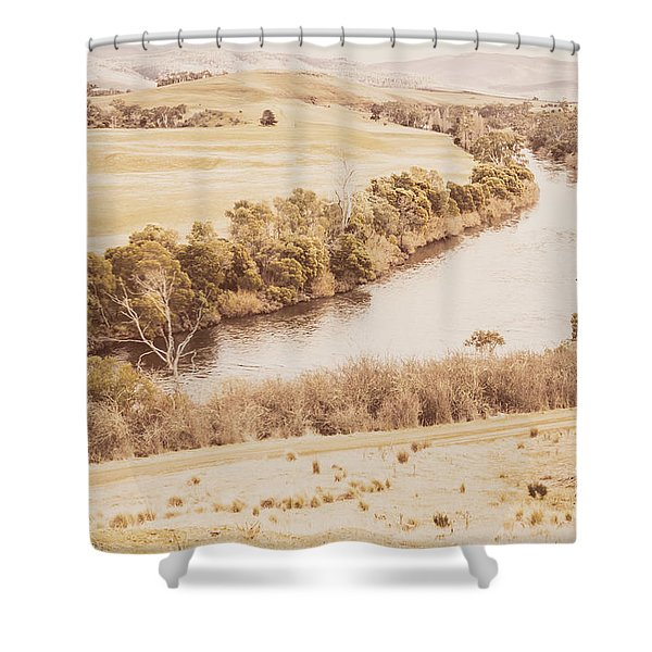 Rivers Of Pastoral Wash Shower Curtain