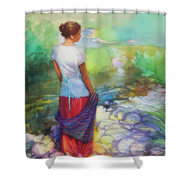 Riverside Muse Shower Curtain