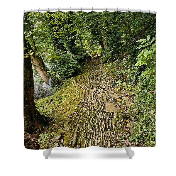 Riverside Walk Shower Curtain