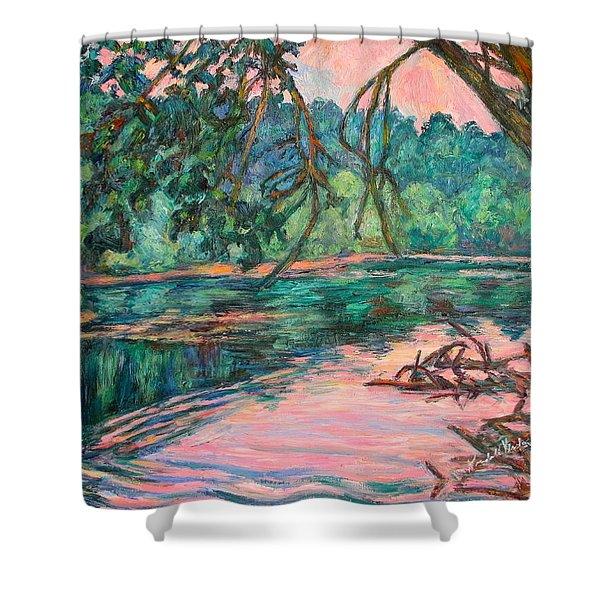 Riverview At Dusk Shower Curtain