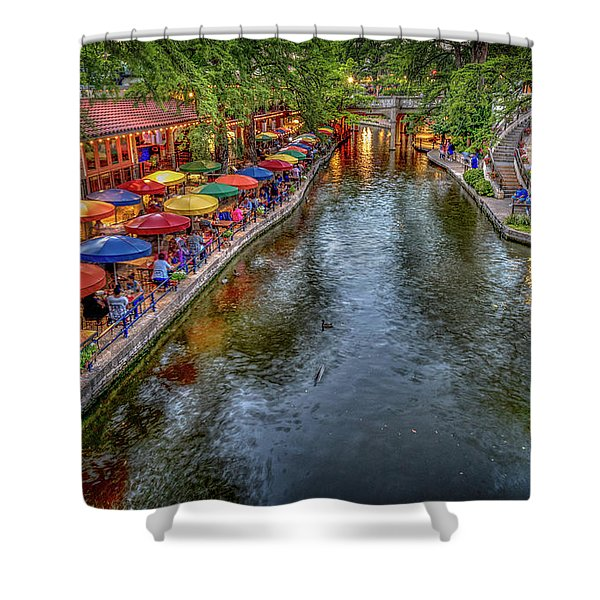 Riverwalk San Antonio Texas Shower Curtain