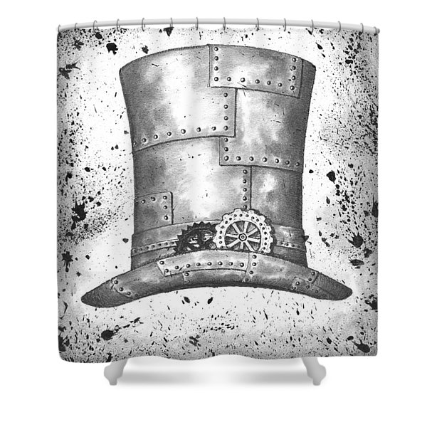 Riveting Top Hat Shower Curtain by Adam Zebediah Joseph