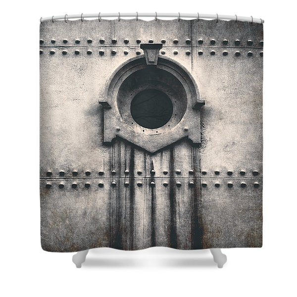 Rivets And Rust Shower Curtain