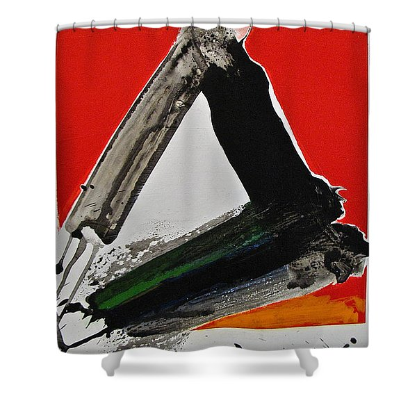Shower Curtain featuring the painting Rms Try An Angle by Cliff Spohn