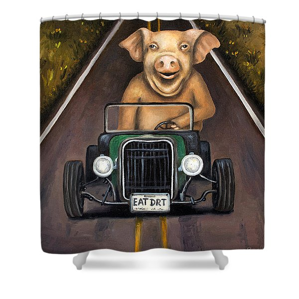 Road Hog Shower Curtain