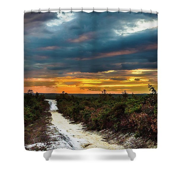 Road Into The Pinelands Shower Curtain