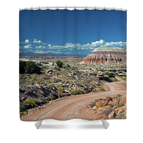 Road To Cathedral Valley Shower Curtain