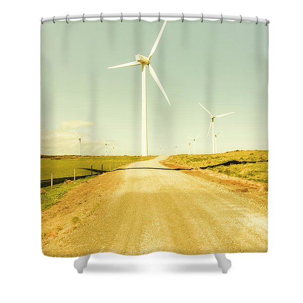 Road To Green Farming Shower Curtain