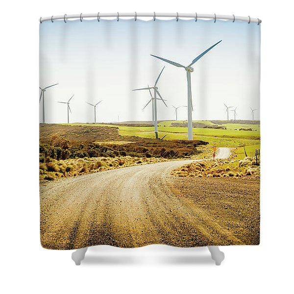 Road To Natural Energy Shower Curtain