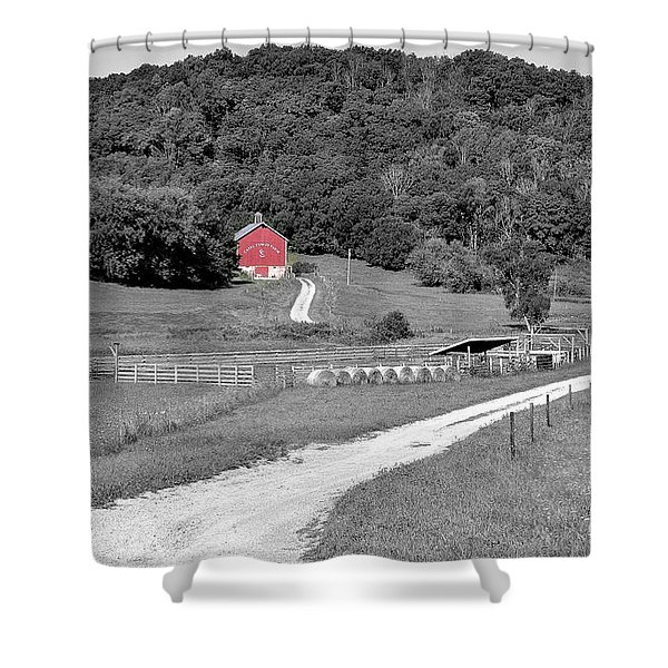 Road To Red Shower Curtain