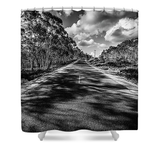 Road To Rossarden Shower Curtain