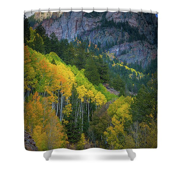 Road To Silver Mountain Shower Curtain