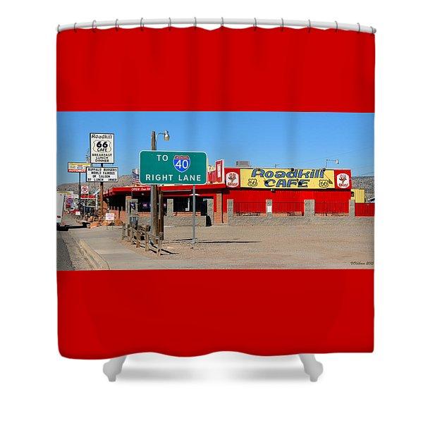 Roadkill Cafe, Route 66, Seligman Arizona Shower Curtain