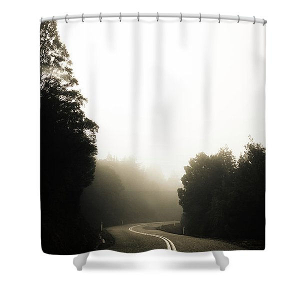 Roads Of Twists And Turns Shower Curtain