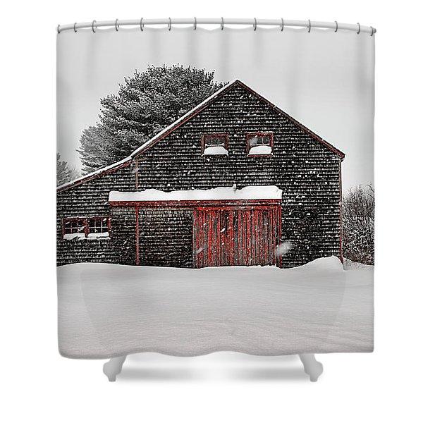Roadside Barn In The Storm Shower Curtain