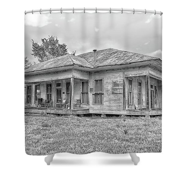 Roadside Old House Shower Curtain