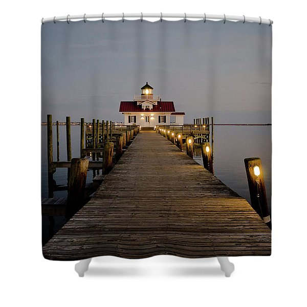 Roanoke Marshes Lighthouse Shower Curtain