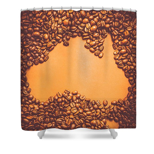 Roasted Australian Coffee Beans Background Shower Curtain