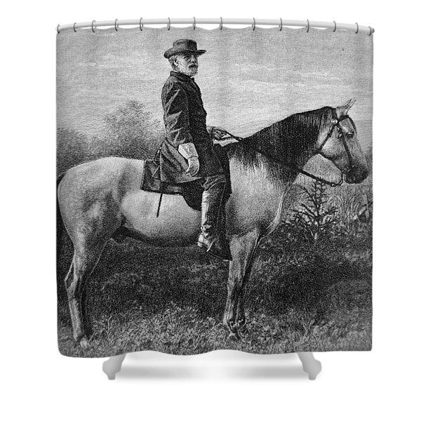 Robert E Lee On His Horse Traveler Shower Curtain